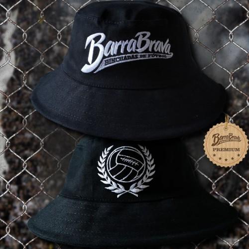Cartola preta original Barra Brava - Logos bordados