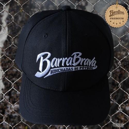 Boné preto original Barra Brava - Logo branco bordado