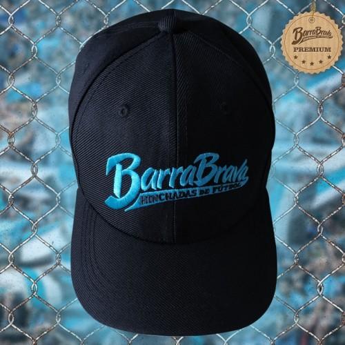 Boné preto original Barra Brava - Logo azul bordado