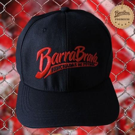 Boné preto original Barra Brava - Logo vermelho bordado