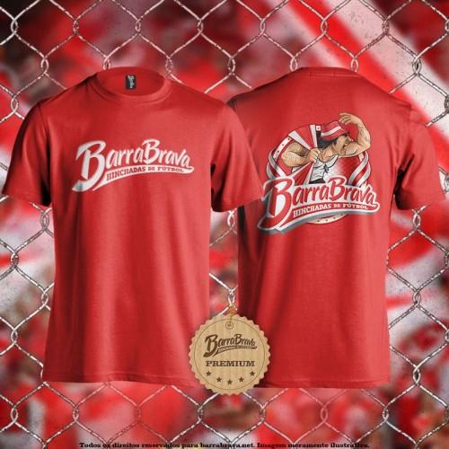 Camiseta vermelha Barra...