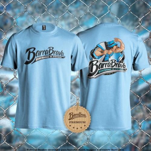 Camiseta azul celeste Barra...