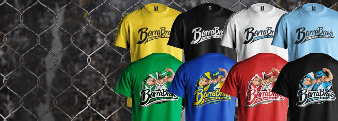 Camisetas Barra Brava Hinchadas de Fútbol